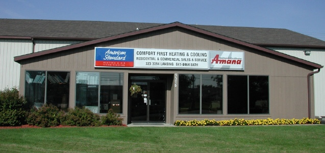 Comfort First Heating and Cooling Serves the lansing MI area for all of your furnace and Air Conditioning needs